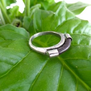 Rustic Brown and Silver Marc Jacobs Ring